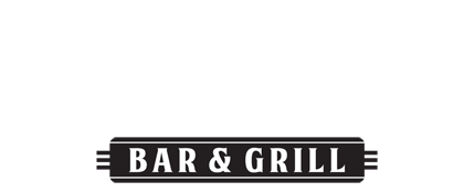 glenns bar logo white
